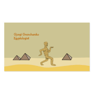 Funny Cartoon Egyptian Mummy Pyramids Custom Pack Of Standard Business Cards