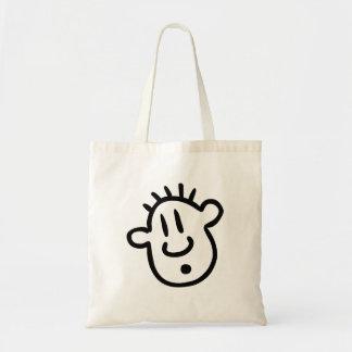Funny Cartoon Face Tote Bag