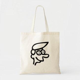 Funny Cartoon Face Canvas Bag