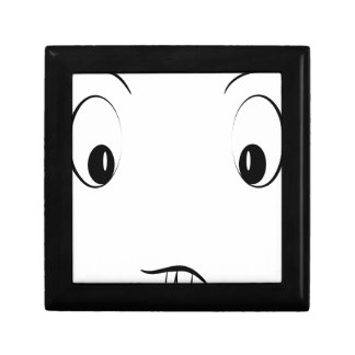 Funny cartoon face gift box