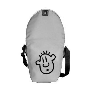 Funny Cartoon Face Messenger Bag