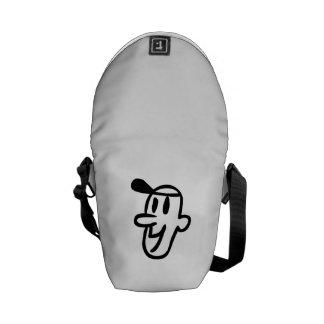 Funny Cartoon Face Messenger Bags
