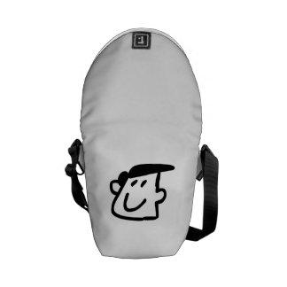 Funny Cartoon Face Courier Bag