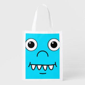 Funny Cartoon face Reusable Grocery Bag
