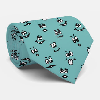 Funny Cartoon Faces Tie