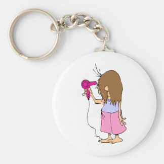 Funny Cartoon for Sleepyheads Keychain