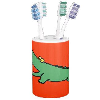 Funny cartoon green crocodile bathroom sets