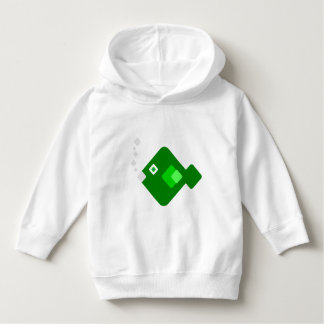 Funny Cartoon Green Fish Kids Hoodie Sweater