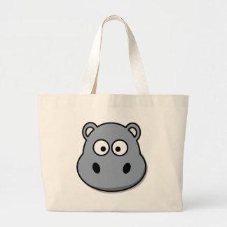 Funny cartoon hippo bag