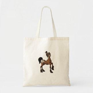Funny Cartoon Horse Tote Bag