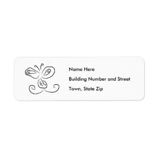 Funny Cartoon Insect Face Return Address Label