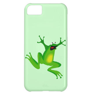 Funny Cartoon Jumping Frog Animal Going Wild Kids Cover For iPhone 5C