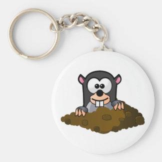 Funny cartoon mole keychain