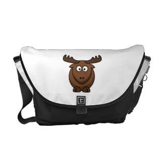 Funny Cartoon Moose Courier Bag