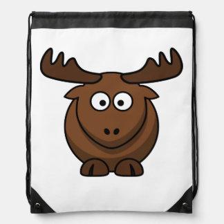 Funny Cartoon Moose Cinch Bag