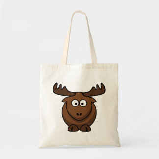 Funny Cartoon Moose Tote Bags