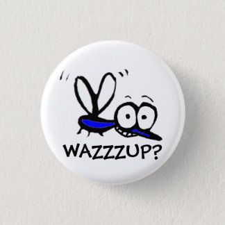 funny cartoon mosquito 1 inch round button