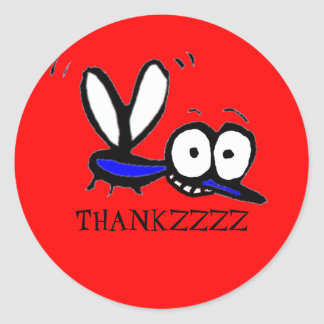 funny cartoon mosquito thank you sticker