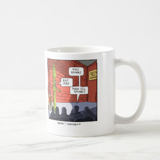 Funny Cartoon Mug- Asparagus Coffee Mug