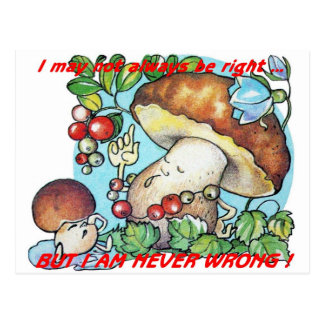 funny cartoon mushrooms mom kid postcard