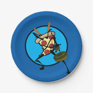 FUNNY CARTOON NINJA PIZZA PAPER PLATES