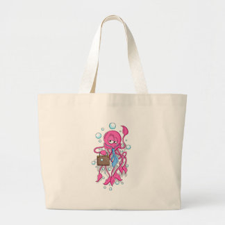 Funny Cartoon Octopus Tote Bags