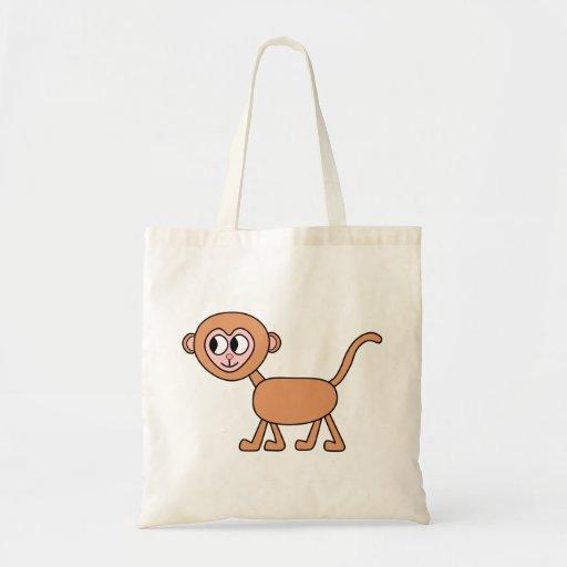 Funny Cartoon of a Monkey. Tote Bag