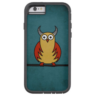 Funny Cartoon Owl With Horns Protective Tough Xtreme iPhone 6 Case