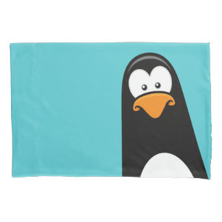 Funny Cartoon Penguin Reversible Pillowcase