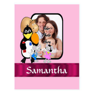 Funny cartoon photo background postcard