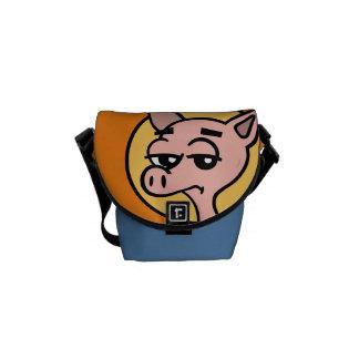 FUNNY CARTOON PIG MESSENGER BAG