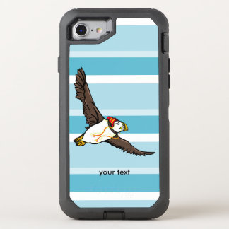 Funny Cartoon Puffin Wearing A Hat OtterBox Defender iPhone 7 Case