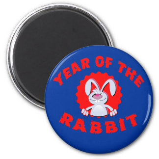 Funny Cartoon Rabbit Year of the Rabbit Gifts 2 Inch Round Magnet