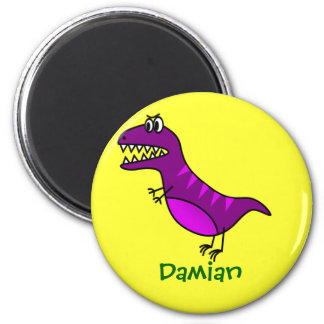 Funny Cartoon Rex  Cute Dinosaur Personalized Gift Magnet