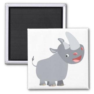 Funny Cartoon Rhino Magnet