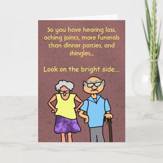 Funny Cartoon Seniors Discount Old Age Birthday Card