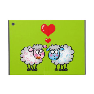 Funny cartoon sheep, Wedding couple Case For iPad Mini