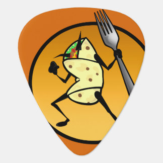 FUNNY CARTOON STYLE BURRITO GUITAR PICK