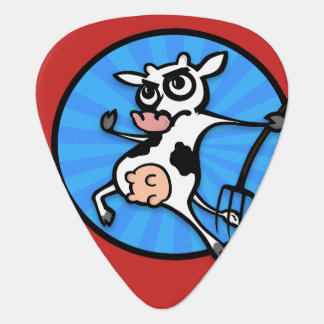 FUNNY CARTOON STYLE COW GUITAR PICK