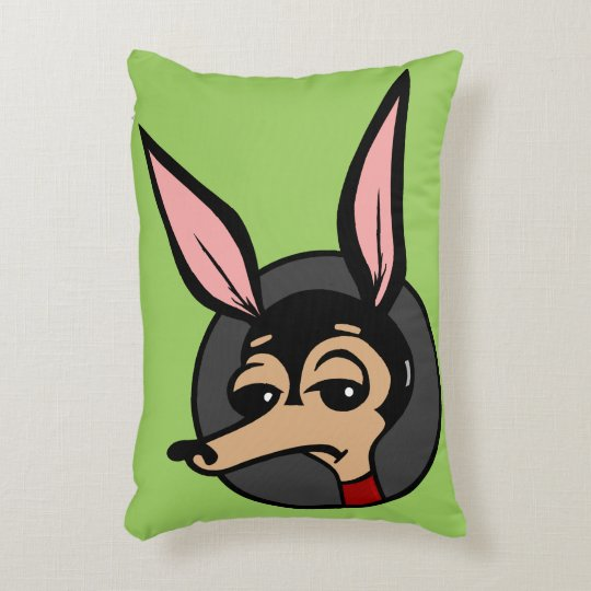 FUNNY CARTOON STYLE DOG ACCENT PILLOW