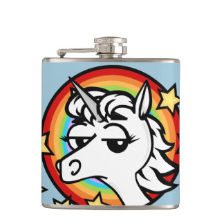 FUNNY CARTOON UNICORN FLASK