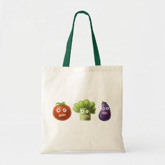 Funny Cartoon Vegetables Budget Tote Bag