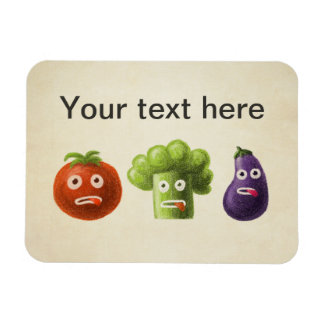 Funny Cartoon Vegetables Magnet
