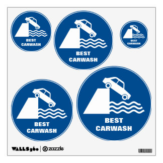 Funny Carwash Sign Wall Sticker