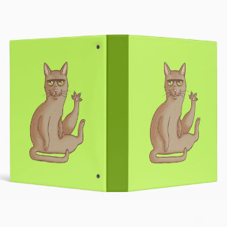 Funny Cat 3 Ring Binder