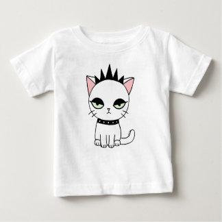 Funny Cat Baby T-shirt Cute Punk Cat Girl Power
