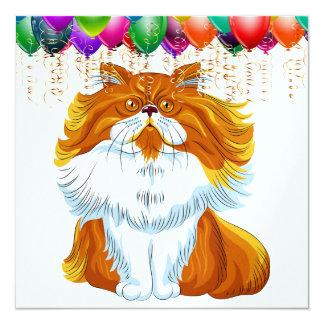 Funny Cat Birthday Any Celebration Invitation