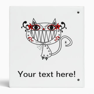 Funny cat cartoon vinyl binders