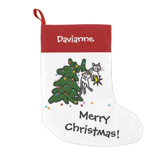 Funny Cat Catastrophe Christmas Stocking