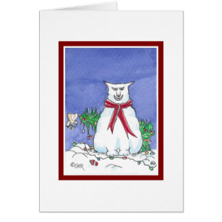 Funny Cat Christmas Card